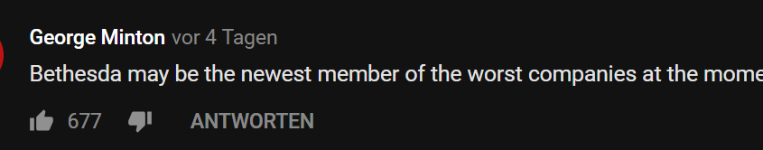 Fallout 76 Youtube Kommentar